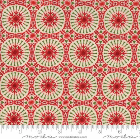 """Berry Merry""-Christmas Tile Red by Basic Grey for Moda"