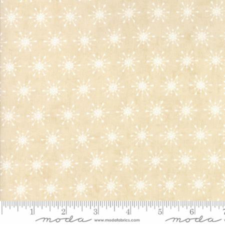 """Berry Merry""-Christmas Snowflake Natural by Basic Grey for Moda"