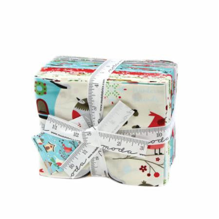 """Jingle Birds"" 20 piece Fat Quarter Bundle by Keiki for Moda"