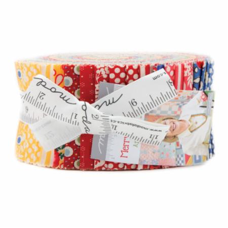"""Merry Go Round"" Jelly Roll 2.5"" x 44"" 40pcs by American Jane for Moda"