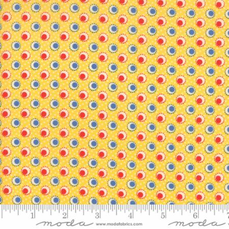 """Merry Go Round""- Double Dots Yellow by American Jane for Moda"