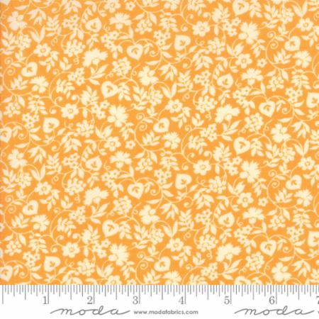"""Merry Go Round""- Mono Floral Orange by American Jane for Moda"