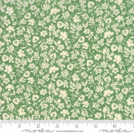 """Merry Go Round""- Mono Floral Light Green by American Jane for Moda"