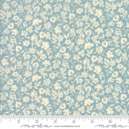 """Merry Go Round""- Mono Floral Light Blue by American Jane for Moda"
