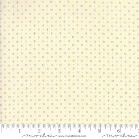 """Merry Go Round""- Sprinkles Ivory Blue by American Jane for Moda"