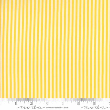 """Merry Go Round""- Stripe Yellow by American Jane for Moda"