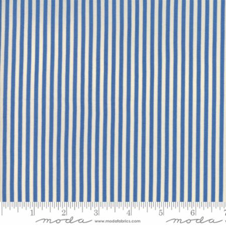 """Merry Go Round""- Stripe Blue by American Jane for Moda"