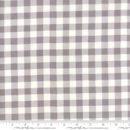 """Homegrown""-Distressed Whitewash Gingham Plaid Grey by Deb Strain for Moda"