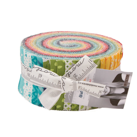 """All Weather Friend"" 40 piece Asst 2.5"" x 44"" Jelly Roll by April Rosenthal Prairie Grass for Moda"