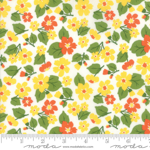 """All Weather Friend""-Floral Flower Field Sunshine by April Rosenthal for Moda"