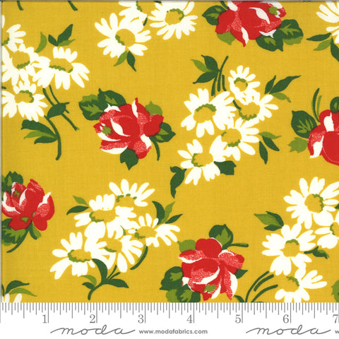 """It's Elementary""- Garden Blooms Yellow by American Jane for Moda"