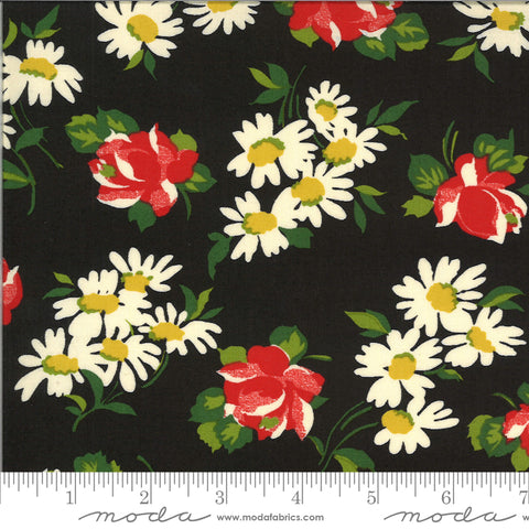 """It's Elementary""- Garden Blooms Black by American Jane for Moda"