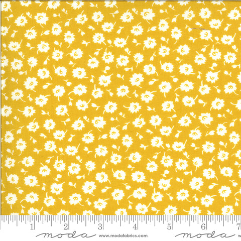 """It's Elementary""- Scattered Blossoms Yellow by American Jane for Moda"