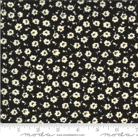 """It's Elementary""- Scattered Blossoms Black by American Jane for Moda"