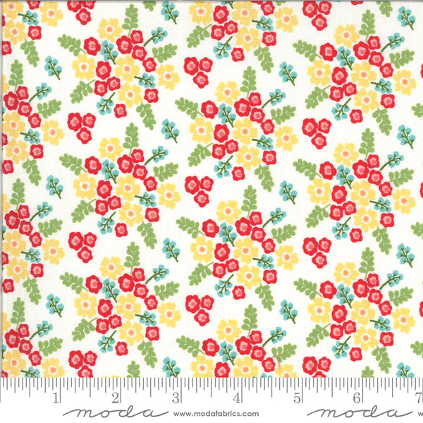 """Homestead""-Wildflowers Multi by April Rosenthal for Moda"