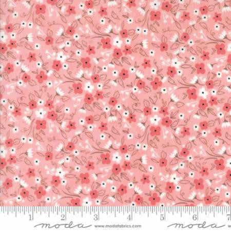 """Olives Flower Market""-Floral Flourish Pink by Lella Boutique for Moda"
