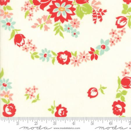 """Handmade""- Floral June Natural White by Bonnie & Camille for Moda"
