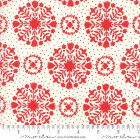 """Handmade""-Floral Olivia Red by Bonnie & Camille for Moda"