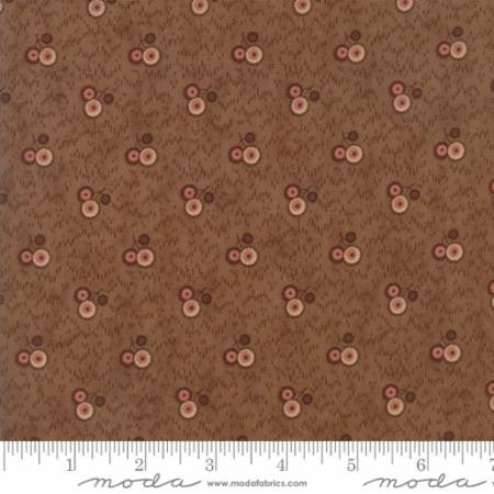 """Three Flower Cluster Medium Brown""-Reflections by Jo Morton for Moda"