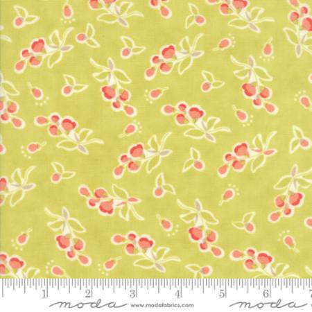 """Floral Posies Light Green Limesicle""-Coney Island by Fig Tree Quilts for Moda"