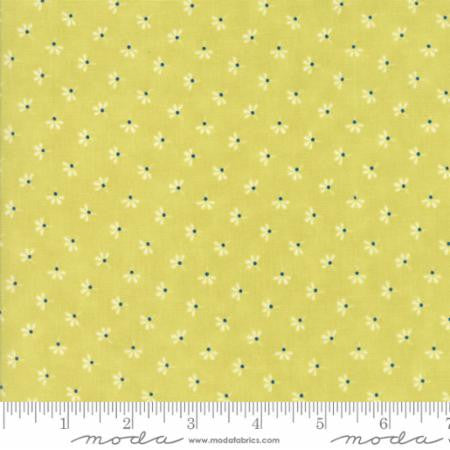 """Floral Dandelion Wisps Light Green Limesicle""-Coney Island by Fig Tree Quilts for Moda"