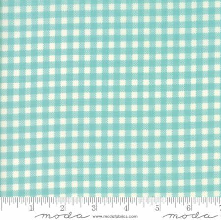 """Gingham Aqua"" Howdy  by Stacy Iest Hsu for Moda"