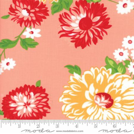 """The Good Life""-Floral Scrumptious Pink Coral by Bonnie & Camille for Moda"