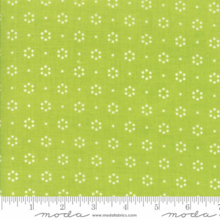 """The Good Life""-Floral Dot Light Green by Bonnie & Camille for Moda"