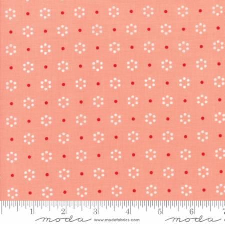 """The Good Life""-Floral Dot Pink Coral by Bonnie & Camille for Moda"