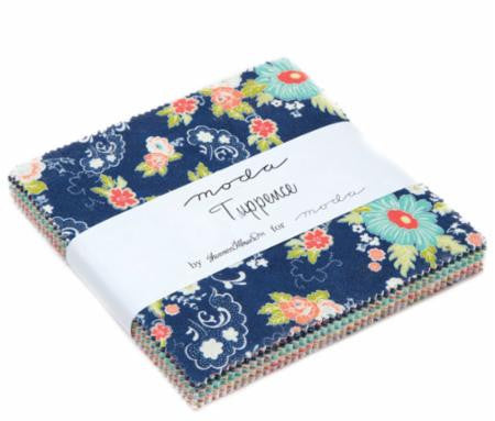 """Tuppence"" Charm Pack 42 pc Asst by Shannon Gillman Orr for Moda"