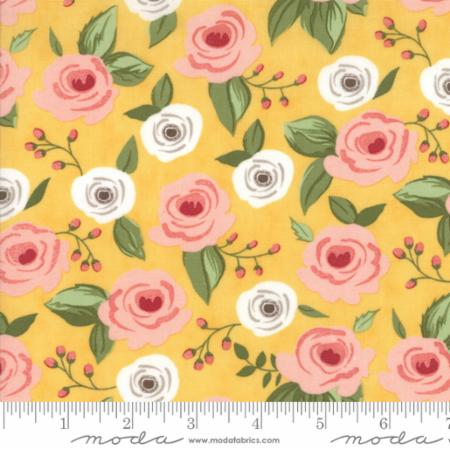 """Farmer's Daughter""-Floral Painted Bouquet Yellow Sunshine by Lella Boutique for Moda"