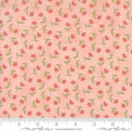 """Farmer's Daughter""-Floral Bloom Toss Pink Lemonade by Lella Boutique for Moda"