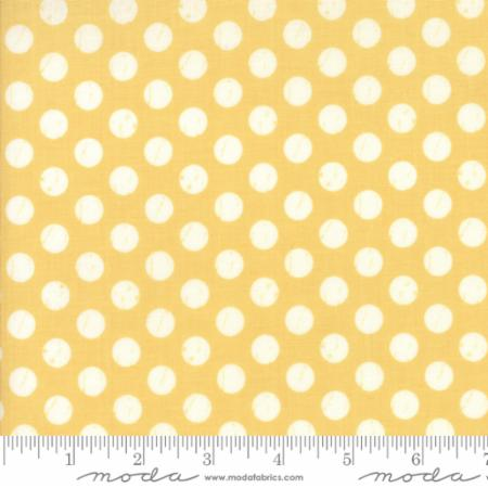"""Farmer's Daughter""-Floral Shabby Dots Yellow Sunshine by Lella Boutique for Moda"