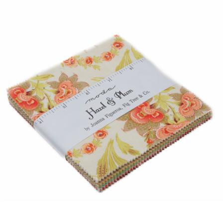 """Hazel & Plum"" 42 piece Asst Hazel & Plum Charm Pack by Fig Tree Quilts for Moda"