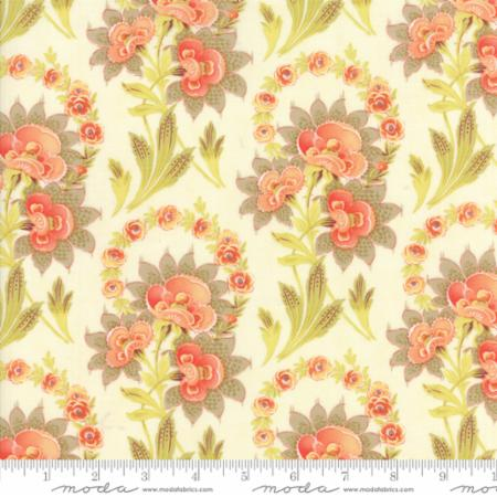 """Floral Harvest Bouquet Natural""-Hazel & Plum by Fig Tree Quilts for Moda"