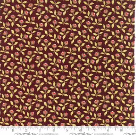 """Floral Plum Blossoms Burgundy""-Hazel & Plum by Fig Tree Quilts for Moda"