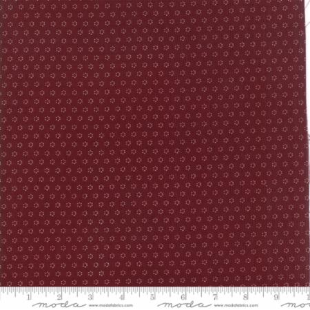 """Floral Posies Burgundy""-Hazel & Plum by Fig Tree Quilts for Moda"
