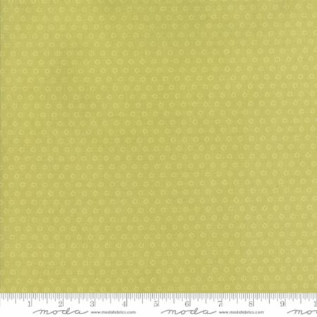 """Floral Posies Light Green""-Hazel & Plum by Fig Tree Quilts for Moda"