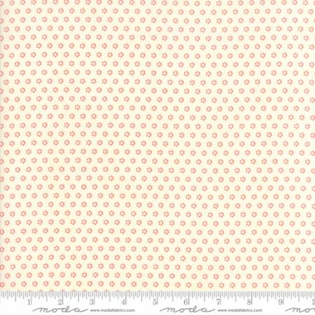 """Floral Posies Cream Red""-Hazel & Plum by Fig Tree Quilts for Moda"