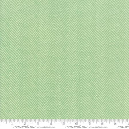 """Floral Herringbone Aqua""-Hazel & Plum by Fig Tree Quilts for Moda"