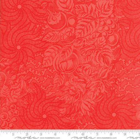 """Floral Tapestry Red""-Hazel & Plum by Fig Tree Quilts for Moda"