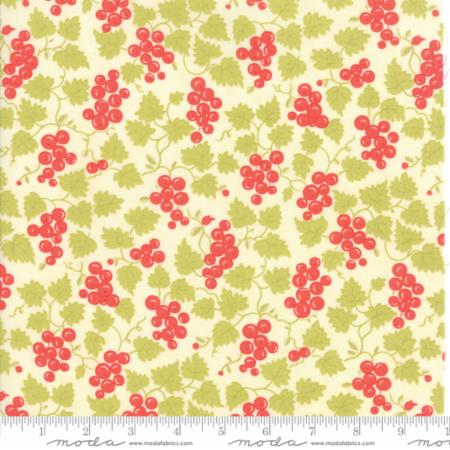 """Floral Berries Natural""-Hazel & Plum by Fig Tree Quilts for Moda"