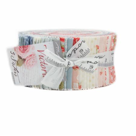 Victoria 40 Piece Assorted Jelly Roll by 3 Sisters for Moda