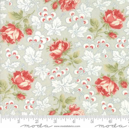 """Victoria""-Floral Kensington Garden Light Blue by 3 Sisters for Moda"