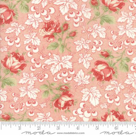 """Victoria""-Floral Kensington Garden Red by 3 Sisters for Moda"