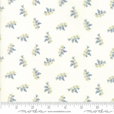 """Victoria""-Floral Charlotte Light Blue by 3 Sisters for Moda"