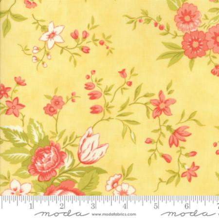 """Ella & Ollie""-Floral Meadow Yellow Daisy by Fig Tree Quilts for Moda"