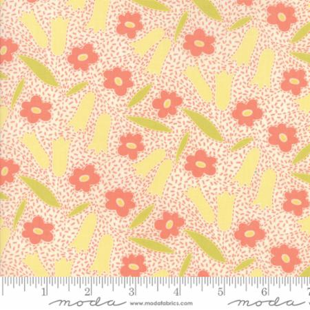 """Ella & Ollie""-Floral Buttercups White Milk by Fig Tree Quilts for Moda"