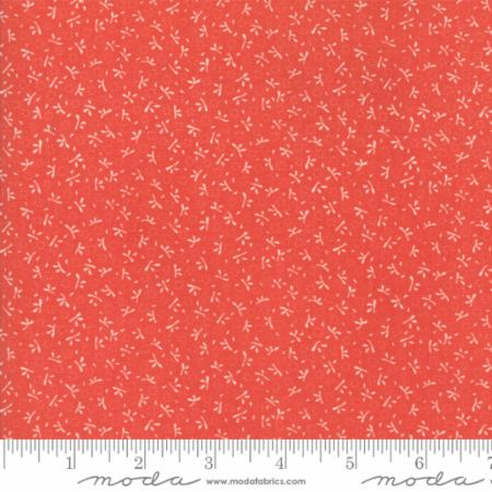 """Ella & Ollie""-Floral Turkey Tracks Red Strawberry by Fig Tree Quilts for Moda"