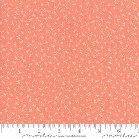 """Ella & Ollie""-Floral Turkey Tracks Apricot by Fig Tree Quilts for Moda"